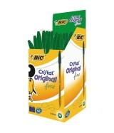 Stylo Bille BIC CRISTAL FINE pointe fine couleur verte Boîte 50 stylos