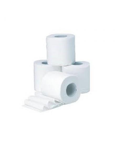 Papiers toilette blanc petit rouleau 2 plis microgaufrés collés 180 feuilles lot de 24 rouleaux