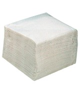 Serviettes de table blanches 30 x 30 cm 1 pli Paquet de 100 serviettes