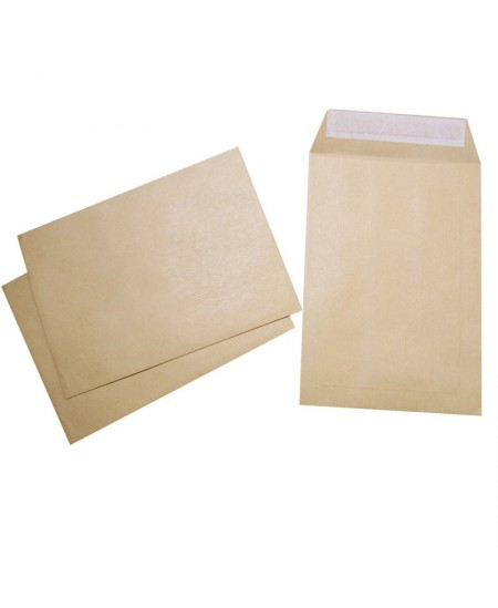 Enveloppes kraft brun recyclé 90 gr auto-adhésives 229x162 mm