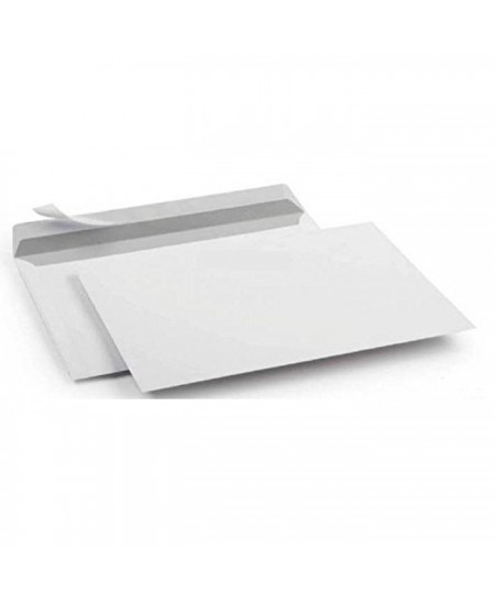 Enveloppes kraft blanc 80 gr auto-adhésives 110x220 mm boîte 500 enveloppes