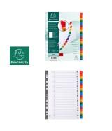 Intercalaires Imprimés alphabétiques carte blanche 160g - 20 positions - A4