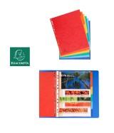 Intercalaires carte lustrée 225g 6 positions - A4 maxi