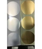Pastille de couleur argent adhésive diamètre 3,5 cm boîte de 500 pastilles
