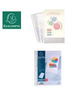 Sachet de 100 pochettes perforées polypropylène grainé 5/100e - A4
