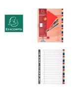 Intercalaires imprimés numériques PP couleurs 31 positions - A4