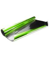 10 ROULEAUX polypro métallisé brillant uni vert anis verso argent 0,70X10M