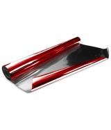 10 ROULEAUX polypro métallisé uni rouge mat verso argent 0,70X10M