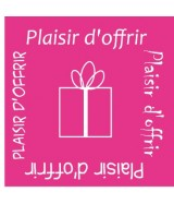 500 STICKERS D'EMBALLAGE ETIQUETTE ADHESIVE PLAISIR D OFFRIR STICKER 3X3CM ROSE FUSCHIA