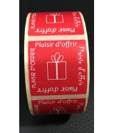 500 STICKERS D'EMBALLAGE ETIQUETTE ADHESIVE PLAISIR D OFFRIR STICKER 3X3CM ORANGE