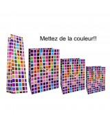 Sac luxe Brillant Multicolore à Motifs carrés dès 15.90€