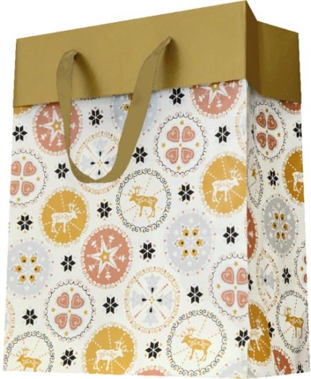 Sac luxe motifs Noël dès 18.99€ le paquet de 20 sacs