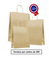 Sac Kraft Brun à poignées torsadées dès 38.36€. Carton de 200 sacs