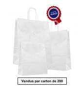 Sac Kraft Blanc à poignées torsadées dès 40.52€. Carton de 200 sacs