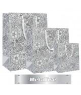 Sac luxe Blanc mat motifs fleurs métallisés dès 16.92€