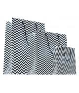 Sac luxe Noir et Blanc brillant motifs zig-zag dès 18.10€