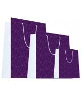 Sac luxe Violet et Blanc brillant motifs géométriques triangles dès 18.10€