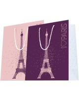 Sac luxe Violet, Rose et Blanc brillant motif Tour Eiffel dès 21.90€