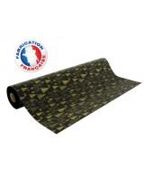 Papier cadeau noir mat motifs cerfs et sapins dès 24.99€
