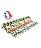 Papier cadeau Blanc motifs Noël coeurs et sapins dès 25.99€