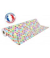 Papier cadeau Blanc motifs papillons multicolores dès 24.99€