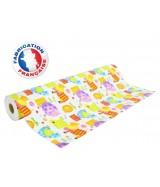 Papier cadeau Blanc motifs animaux de la ferme dès 24.99€