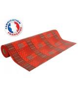 Papier cadeau tons Rouges motifs linéaires et carrés dès 24.99€