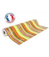 Papier cadeau Rayé multicolore motifs Fleurs dès 24.99€