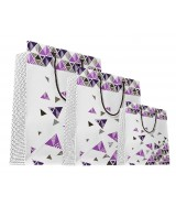 Sac luxe blanc brillant motifs triangles dès 15.90€