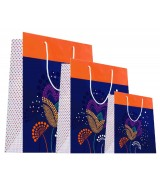 Sac luxe Bleu et Orange brillants motifs fleurs dès 15.90€