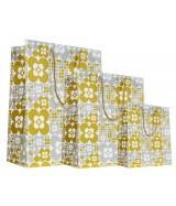 Sac luxe Blanc brillant motifs ronds Or et Argent dès 15.90€