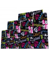 "Sac luxe Brillant Noir motifs ""Graffitis"" dès 15.90€"
