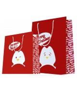 Sac luxe Rouge motif pingouin  dès 11.90€ le paquet de 20 sacs