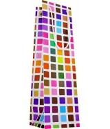 Sac luxe brillant 1 Bouteille multicolore à motifs carrés