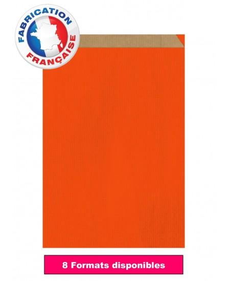 Pochette cadeau Orange foncé vergé dès 6.99€