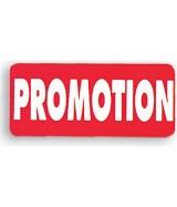 """Étiquette adhésive """"promotion"""" rectangulaire"""