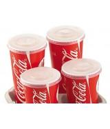 Couvercle pour gobelet carton impression Coca-Cola® et ENJOY dès 35.50€ le colis