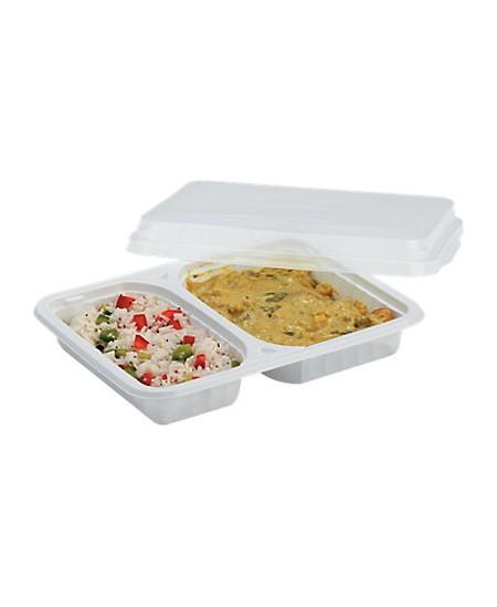 Assiette rectangulaire 2 compartiments dès 99.90€ le colis