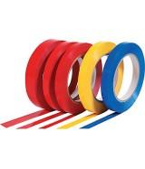 Ruban adhésif PVC couleur petites largeurs. Colis de 144 rouleaux.