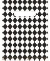 """Sac plastique """"Losanges"""" Noir et blanc à poignées découpées renforcées 40x50cm. Paquet de 100"""