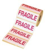 """Etiquettes adhésives de signalisation """"Fragile"""""""