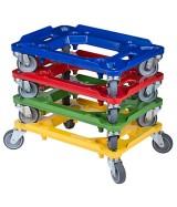 Chariot couleur pour bac plastique