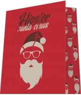 Sac luxe motif Père Noël Hipster dès 18.10€ le paquet