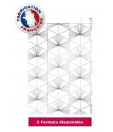 Pochette cadeau blanche motifs métallisés géométriques dès 24.90€