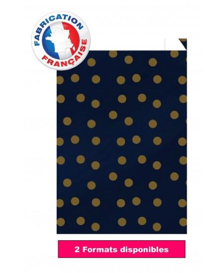 Pochette cadeau motifs pois, Bleu et Or dès 37.95