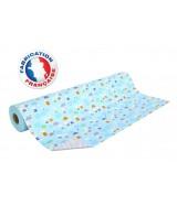 Papier cadeau Bleu motifs lapins enfantins dès 32.99€