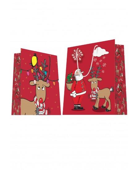 Sac luxe Père Noël + renne dès 18.10€ le paquet de 20 sacs