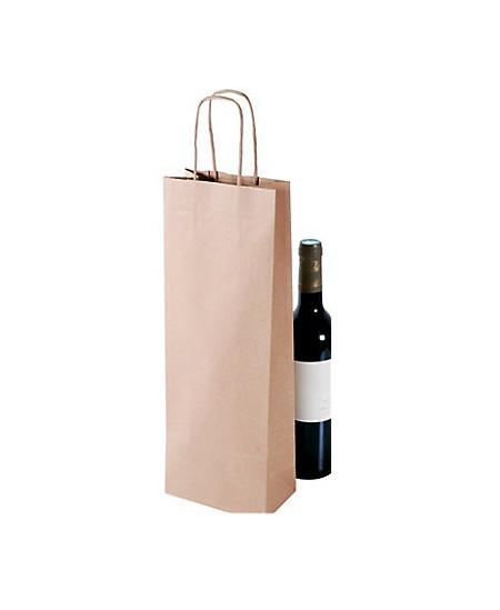 Sac papier 1 bouteille. Colis de 300 sacs