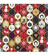 Papier cadeau Bleu mat motifs Noël brillants dès 29.99€