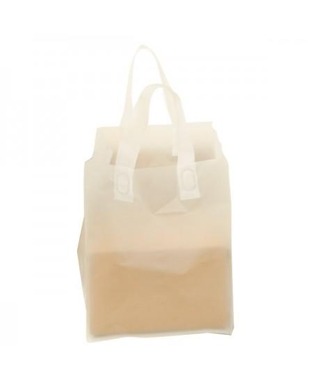 Sac Plastique Translucide Givré Spécial Livraison 32+22 x 30 cm Paquet de 25 sacs